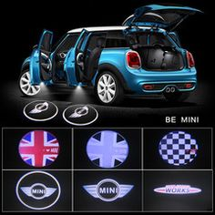 MINI COOPER LOGO Welcome LED Door courtesy Shadow Lights for Mini Cooper 2x