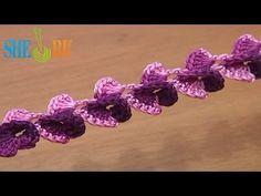 Fancy Crochet Curly Braid Tutorial 35 3D Crochet Cord - YouTube