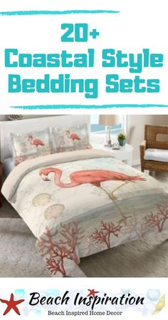20 Coastal Bedding Sets For Beach Themed Bedroom. Look at These Beautiful Beach Bedding Sets Perfect For Bringing A Little Ocean Inside Your Home. Beach Bedding Sets, Coastal Bedding, Coastal Bedrooms, Comforter Sets, Beach House Bedroom, Beach House Decor, Home Bedroom, Ocean Bedroom, Coastal Style