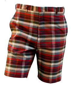315.93 kr. 1950s Medium Mens Shorts Small Plaid Chino Plaid by TopangaHiddenT