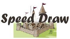 Como desenhar um Castelo Medieval em Speed Draw com Tiburcio