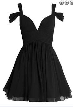 Simple Short Chiffon Homecoming Dresses