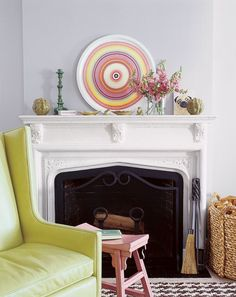 See more images from 3 clever ways to decorate a fireplace on domino.com
