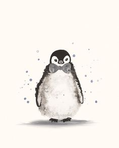 Nursery Print of Baby Penguin Nursery Wall Art door BillyandScarlet