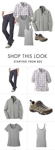 """""""Carry-On outfit - hiking/adventure"""" by cdsommer ❤ liked on Polyvore featuring prAna, Patagonia, Merrell, REI and Vince"""