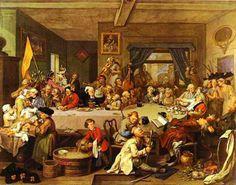 Entretenimento nas eleições, 1755 William Hogarh (Inglaterra, 1697-1764) óleo sobre tela Sir John Sloane's Museum, Londres