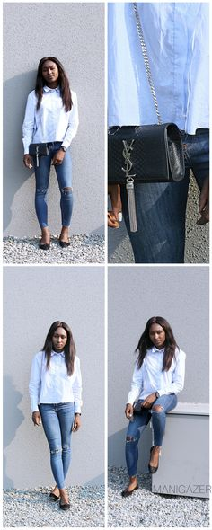 Distressed #jeans are a classic, but sometimes we need a little inspo to find new ways to rock them. Click through to find out how to make ripped jeans the new chic!     #blogger #african #black #bag #luxury #jeans #asos #zara #jeans #minimal #fashion #style #minimalistic
