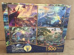 Disney Dreams 4 in 1 Thomas Kinkade jigsaw puzzle jungle book lion king peter