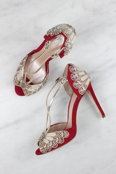 Emmy London S Exquisite Chelsea Bridal Shoe Collection Red