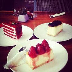 #redvelvet #strawberry #blueberry #cheese #cake #the #harvest