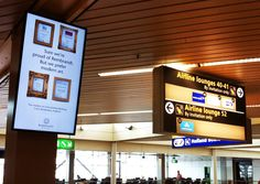 Advertisment on Schiphol Airport