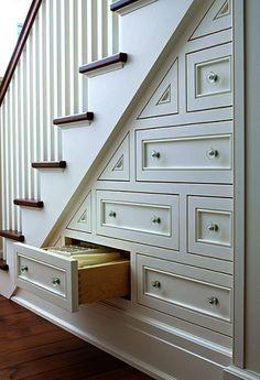 stair storage interesting idea.