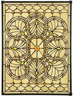 """Geneva Stained Art Glass Window Panel Medium Rectangle - 24""""hx18""""w, Copper by Home Decorators Collection. $117.99. Geneva Art Glass Medium Rectangle - Enjoy The Beauty Of Sunlight Streaming Through Richly Colored Art Glass Windows In Your Own Home. The Geneva Art Glass Medium Rectangle Is Meticulously Crafted Using Hand-Cut Glass That Is Soldered Together In An Elegant Amber Motif. Each Stained Glass Window Has An Elegant Leaded Frame And Will Bring A Classical Touch To Your Ho..."""
