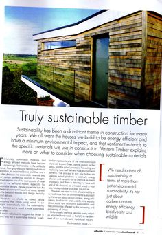 Selfbuilder & Homemaker page 1 sustainable timber 01.05.15