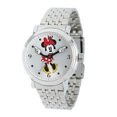 Shop for Disney Women's Stainless Steel Minnie Red Dress Design Watch. Get free delivery On EVERYTHING* Overstock - Your Online Watches Store! Mickey Watch, Luanna, Skeleton Watches, Best Watch Brands, Fossil Watches, Disney Jewelry, Watch Sale, Stainless Steel Watch, Photo Jewelry