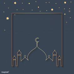 Ramadan framed background design Free Ve. Islamic New Year, Islamic Art, Ramadan Background, Festival Background, Frame Background, New Years Background, Vector Background, Decoraciones Ramadan, Wallpaper Ramadhan