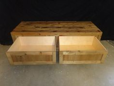 pallet storage bench - Google Search