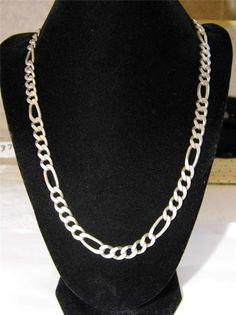 Mens large figaro Sterling Silver necklace MA19