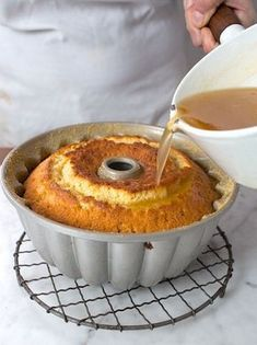 This moist, decadent cake, redolent of rum and butter, is best served in small slices, the better to appreciate its intense flavor. Rum Cake Recipe Easy, Pound Cake Recipes, Easy Cake Recipes, Dessert Recipes, Bahamian Rum Cake Recipe, Fruit Cake Recipe With Rum, Rum Cake Glaze Recipe, Golden Rum Cake Recipe, Rum Cake Recipe From Scratch