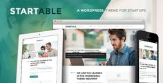 Startable - Responsive WordPress Theme for Startups . Startable has features such as Widget Ready: Yes, Compatible Browsers: IE9, IE10, IE11, Firefox, Safari, Opera, Chrome, Edge, Compatible With: Bootstrap 3.x, Software Version: WordPress 4.6.1, WordPress 4.6, Columns: 4+