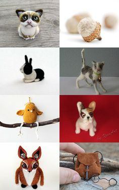 It's the Little Things etsy treasury. #etsy #needlefelted #woolanimal #woolanimals #dutchrabbit #dutchbuny #cat #acorn #bird #backpack #redfox #animal #cuteanimals #animalsculpture #fiberart #woolsculpture #woolart #puppy #polymerclay --Pinned with TreasuryPin.com
