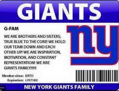 Giants fan for life.