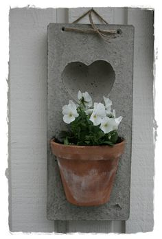 Flower pot on wall board