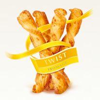 Twist Fromage Un délice croustillant: flûtes longues en pâte feuilletée au fromage délicatement torsadées pour satisfaire les palais les plus exigeants.