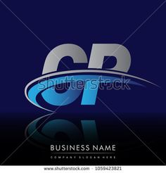 initial letter GP logotype company name colored blue and grey swoosh design. vector logo for business and company identity.