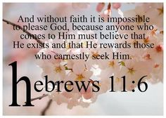 Our heart is to show the world that God does exist and that Jesus saves.  Join with us at www.womenforjesus.org. Hebrews 11:6