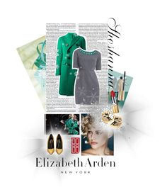 """""""Go From Fall to Festive With Elizabeth Arden and Shoshanna"""" by tophercouture on Polyvore"""