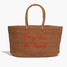 4fc0762b84 Madewell X Surfrider Foundation Straw Tote Bag Madewell Tote
