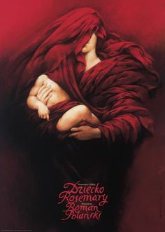 """polskieplakaty: """" Wiesław Wałkuski Dziecko Rosemary (Rosemary's Baby) Limited edition poster - 100 signed by artist and numbered copies were printed. This is a second version of Wałkuski's poster from 1984. Printed: 2011 Size: B1 - 67x97cm """""""