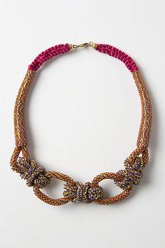 Shimmering Sailor Knot Necklace - Anthropologie.com