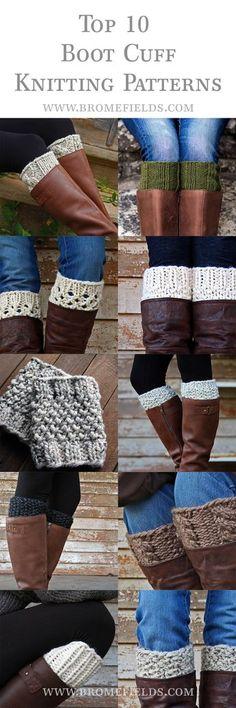 Crochet Patterns Socks Top 10 Boot Cuff Knitting Patterns for Loom Knitting, Knitting Socks, Knitting Patterns Free, Knit Patterns, Baby Knitting, Flower Patterns, Knitted Boot Cuffs, Crochet Boots, Knit Boots