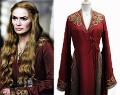 """""""Game Of Thrones"""", Cersei Lannister costume detail. Got Costumes, Movie Costumes, Theatre Costumes, Costume Ideas, Arya Stark, Costumes Game Of Thrones, Game Of Thrones Series, Fantasy Costumes, Embroidery Fashion"""