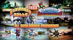 Skylanders SuperChargers - All Skylander Previews. Do you know who all the SuperCharger Skylanders are? If not, watch this SuperChargers - All Skylander Previews montage to help you.