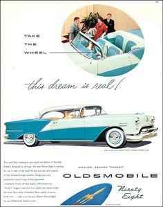 General Motors Oldsmobile Ninety-Eight Auto Retro, Retro Cars, Vintage Advertisements, Vintage Ads, Vintage Signs, General Motors, Automobile, Hot Rods, Car Brochure