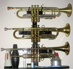 Another DIY Trumpet Wall Mount