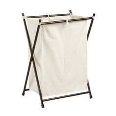 Our Bronze Double Folding Hamper features an attractive oil-rubbed bronze-finished frame and removable canvas bag. It's a great-looking solution for the bedroom, closet, bath, dorm or laundry room.