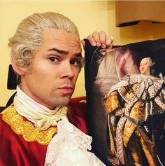 Andrew Rannells replaced Groff in the role of King George III from October 27 to November 29, 2015, when Groff returned