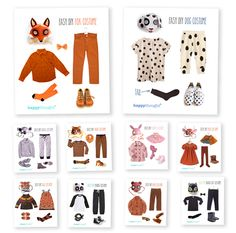Simple DIY ideas. Easy, fun, dress up Animal costume ideas! #costumes https://happythought.co.uk/craft/animal-costume-ideas
