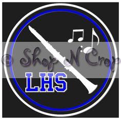 Marching Band Clarinet High School  Vinyl Car Decal by Shopncrop, $5.00