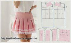 DIY Girly Skirt - FREE Sewing Pattern (Draft)