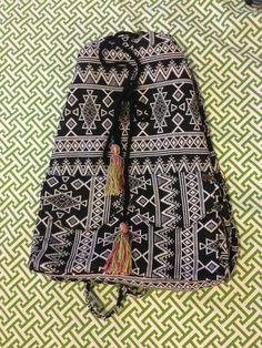 Billabong Drawstring Backpack ~ NWOT ~ Tribal Print w Tassel Detail #Billabong #Backpack #tribal #boho #festivalbag #festivalfashion #tassel #hippie #festivalstyle #bohostyle #knapsack #bag