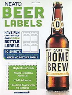 Amazon Neato Blank Beer Bottle Labels