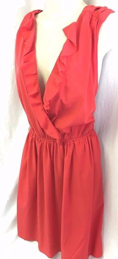 New Rachel Roy Red Christmas Holiday Dress Sexy Cocktail Party Misses Size 10 #RachelRoy #Cocktail