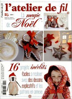 L'atelier de Fil N� 19 - La magie de No�l de Lumina Edizioni - Livres et Magazines - Quilt et Patchwork - Casa Cenina
