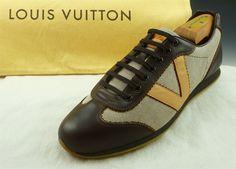 Louis Vuitton sz 6.5 Leather & Canvas Sneakers LI1018 Mens Brown fits US 7.5  #LouisVuitton #FashionSneakers #distinctivedeals