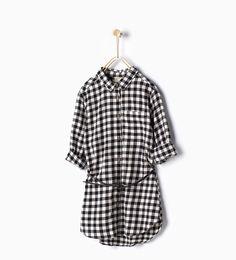 ZARA - KIDS - Long gingham shirt